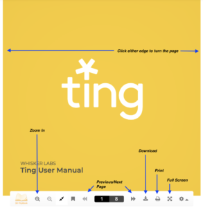 Ting user manual online version with instructions-on how to view and download