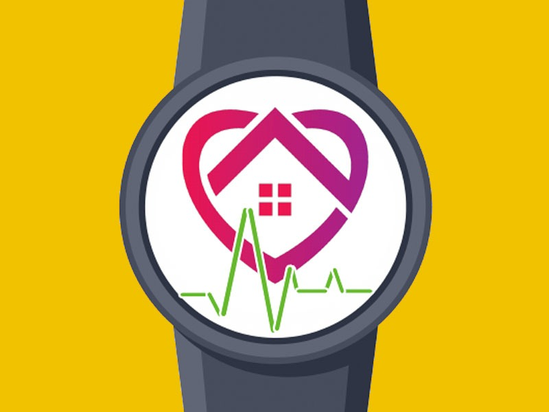 Illustration of a fitness watch