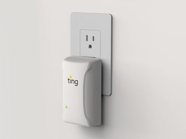 Ting product plugged into outlet