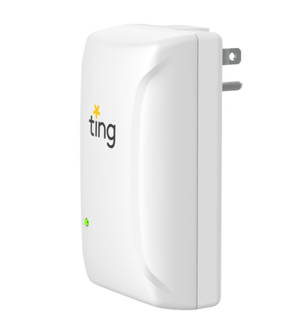 Ting device shown at an angle