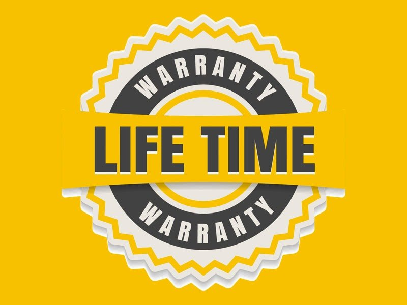 Life time Warranty Seal