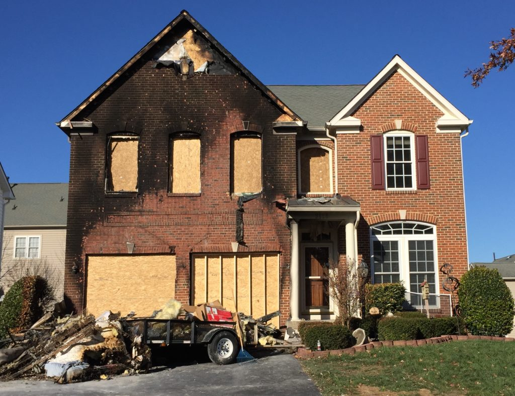 Home damaged by electrical fire