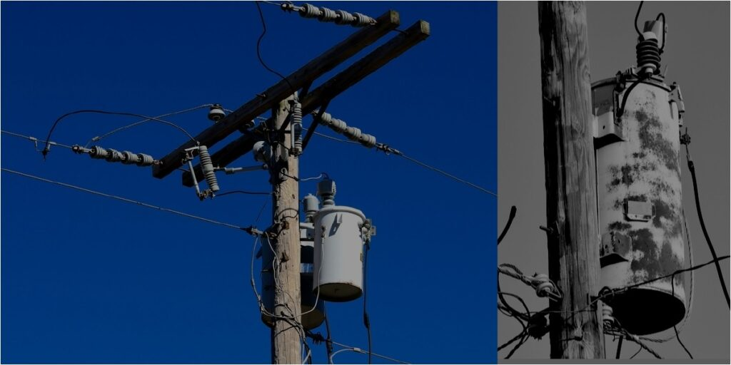 Pole-mounted distribution transformers
