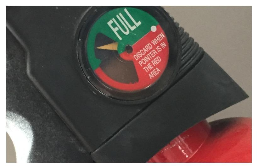 portable fire extinguisher gauge