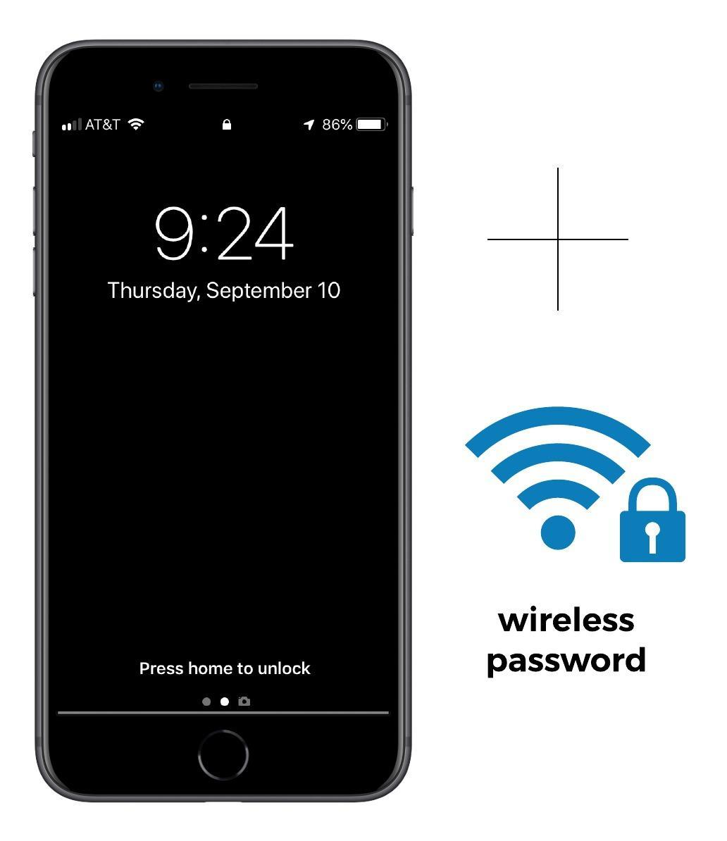 iphone and wireless icon