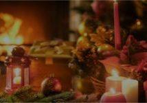 holiday season decorated room